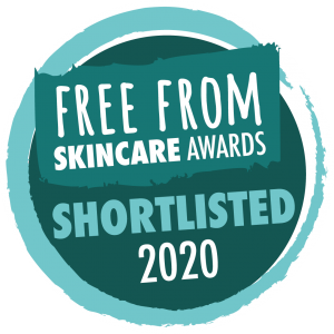 Shortlisted in the Free From Skincare awards 2020