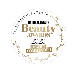 Natural Health Beauty Awards 2020 - Highly Commended