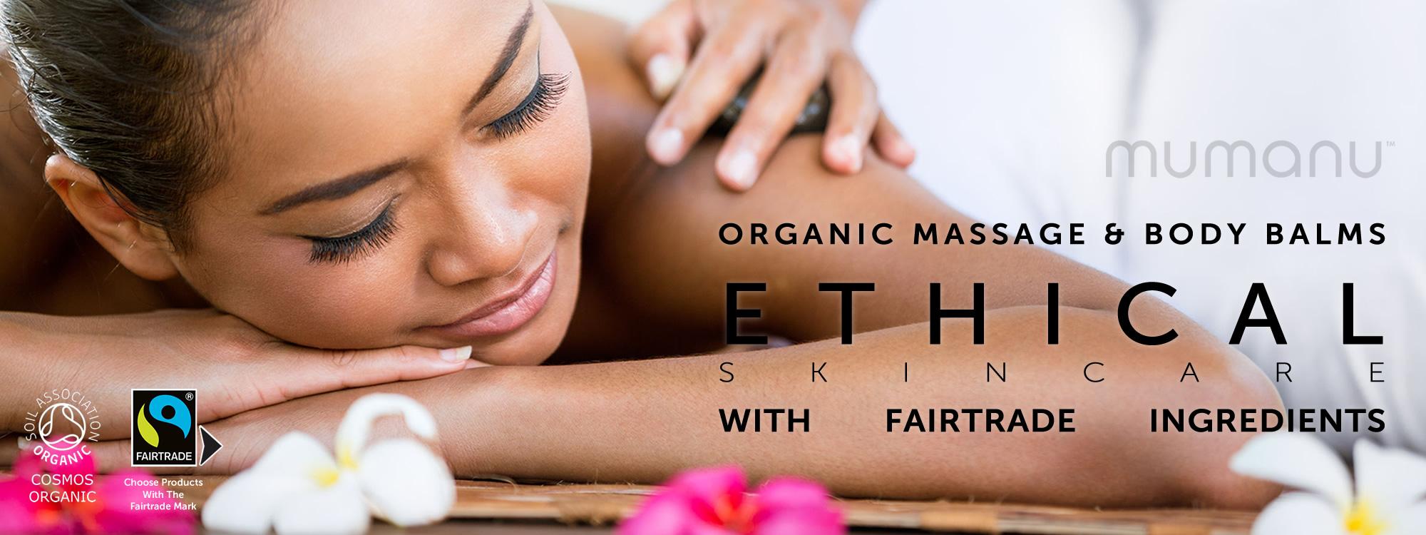 Mumanu Organic Massage Oil & Shea Moisturiser With Fairtrade Ingredients