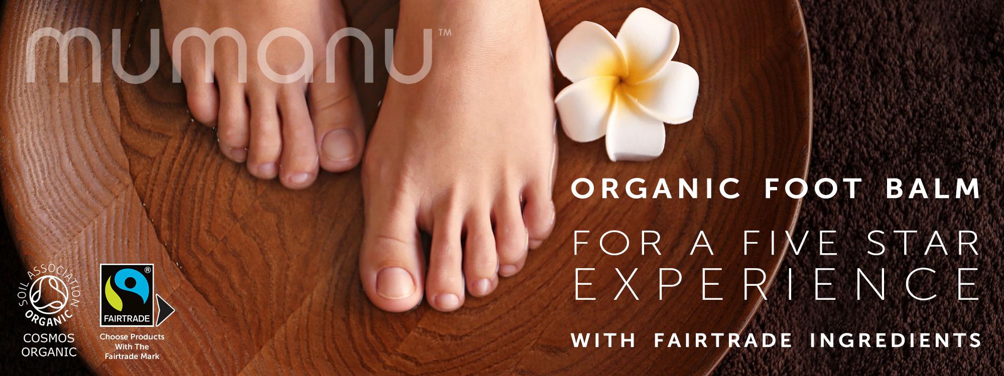Mumanu Organic Foot Massage Oil, Heel Balm & Foot Cream With Fairtrade Ingredients