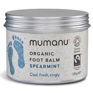 Mumanu Organic Foot Balm Spearmint - Foot Massage Oil - Heel Balm - Foot Cream