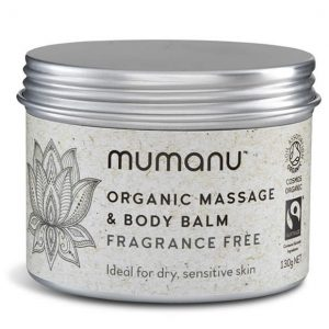 Mumanu Organic Massage Oil & Body Balm - Shea Moisturiser With Fairtrade Ingredients