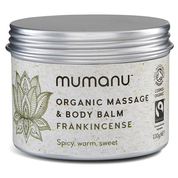 Mumanu Organic Massage Oil & Body Balm With Frankincense Oil - Shea Moisturiser & Ethcial Skin Care - With Fairtrade Ingredients