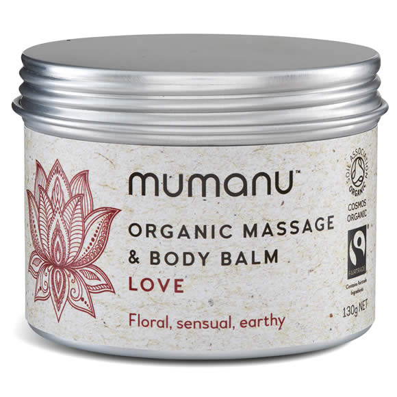 Mumanu Organic Massage Oil & Body Balm Aromatherapy Blend - Shea Moisturiser & Ethcial Skin Care - With Fairtrade Ingredients