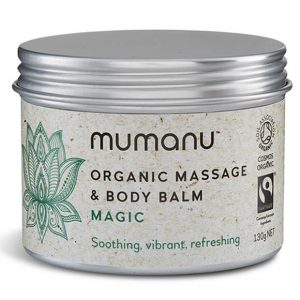 Mumanu Organic Massage Oil & Body Balm For Aromatherapy Massage - Shea Moisturiser & Ethcial Skin Care - With Fairtrade Ingredients