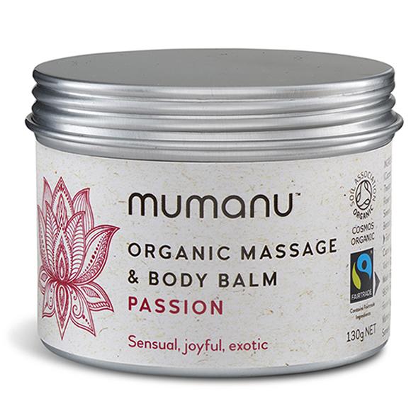 Mumanu Organic Passion Massage Oil Balm With Ylang Ylang Oil
