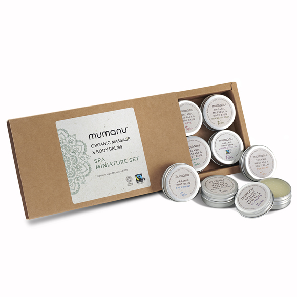 Mumanu Organic Spa Miniature Set With Fairtrade Ingredients